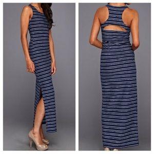 Jack BB Dakota Navy Blue Summer Maxi Dress Size XS